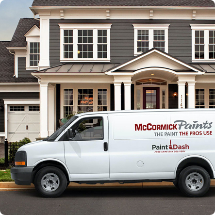 MCCORMICK PAINTS ANNOUNCES NEW INNOVATIVE SERVICE. FREE-SAME DAY PAINT DELIVERY