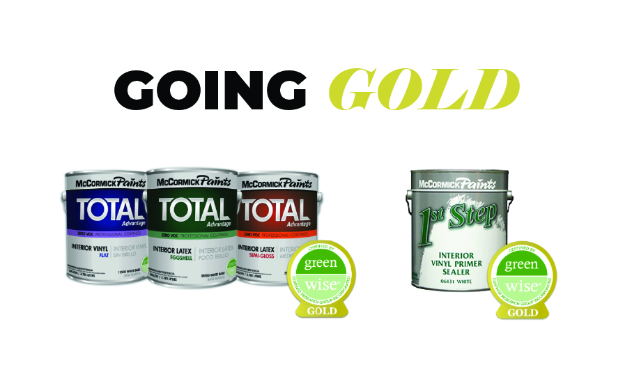 Four McCormick Paints' Products Earn Green Wise Gold
