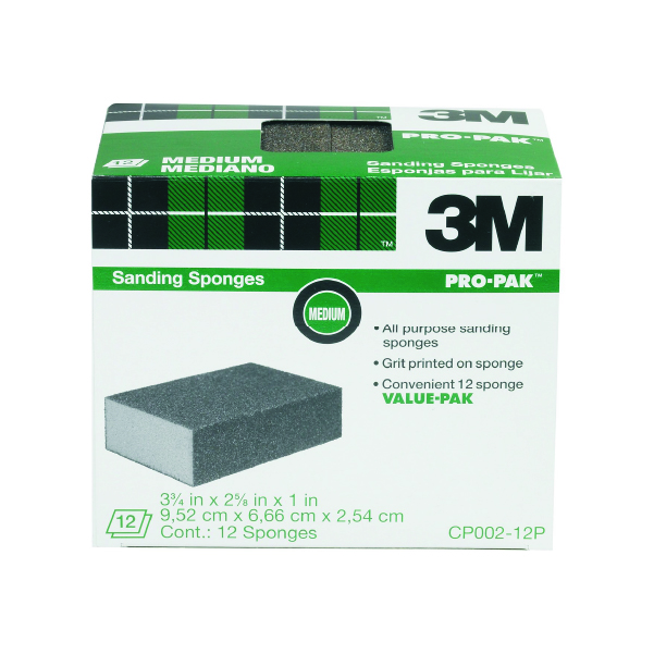 3M Sanding Sponges 12 Pack